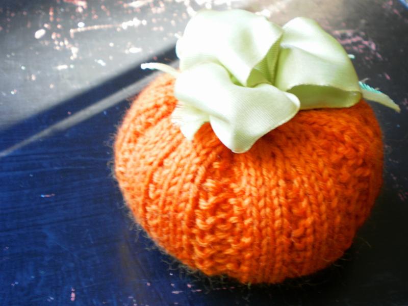 Knit Pumpkin Patterns Handmade by Anne Potter
