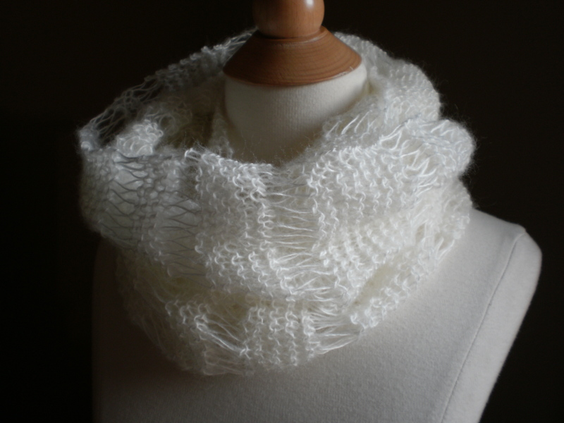 Knit Flower Pattern Free : Snowdrift Mobius Cowl Pattern   Handmade by Anne Potter