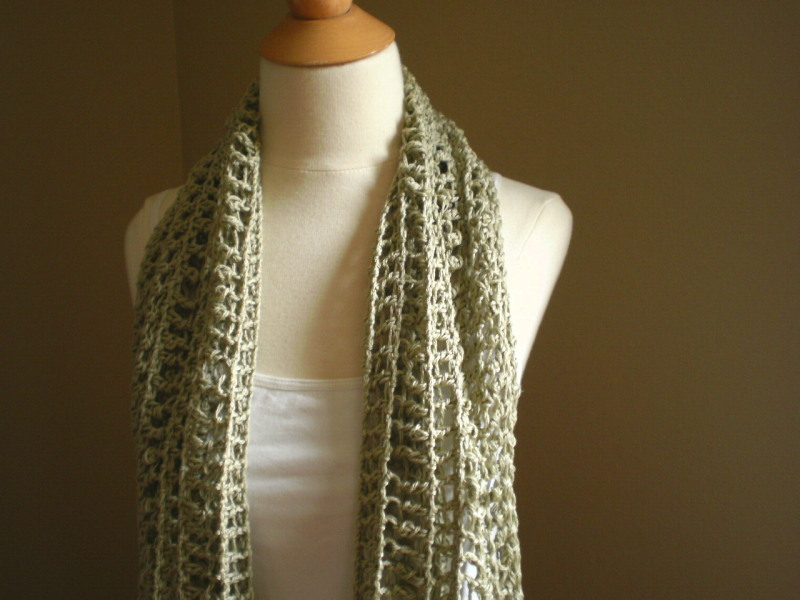 Crocheting End Of Row : Itanos Summer Scarf Crochet Pattern - Handmade by Anne Potter