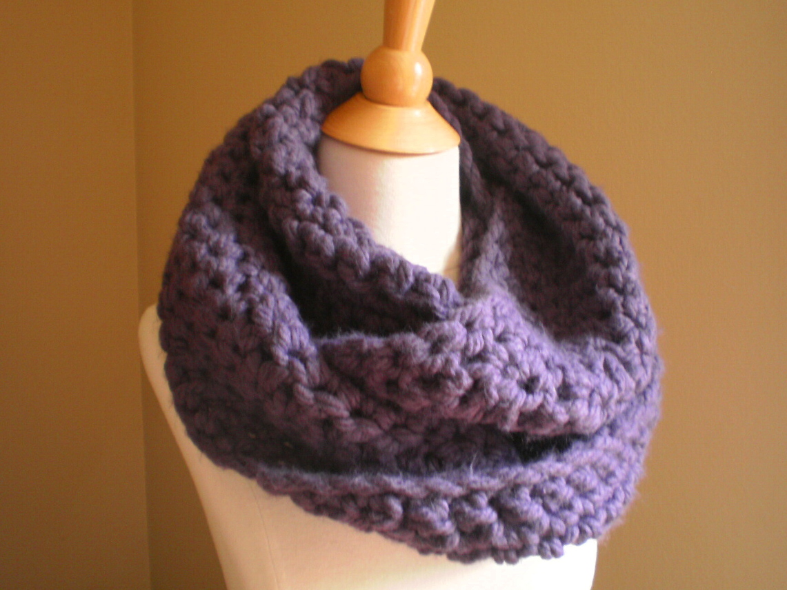 Crochet Bernat Satin Hooded Scarf | Free Crochet Pattern