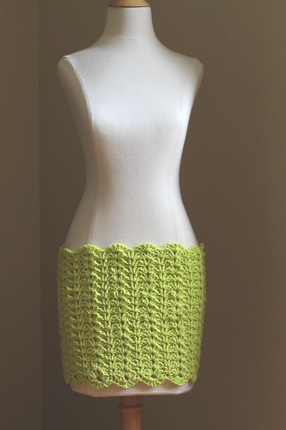 Crochet Patterns Skirt : Wailua Mini Cover-Up Skirt Crochet Pattern Handmade by Anne Potter