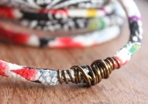 Kyoto Kimono Wrapped Bangle Bracelet