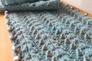 Hand Knit Lace Scarf, Certified Handmade