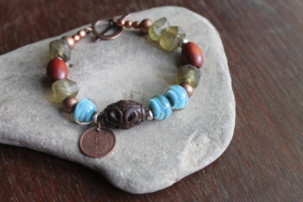 Acacia OOAK Bracelet by Anne Potter