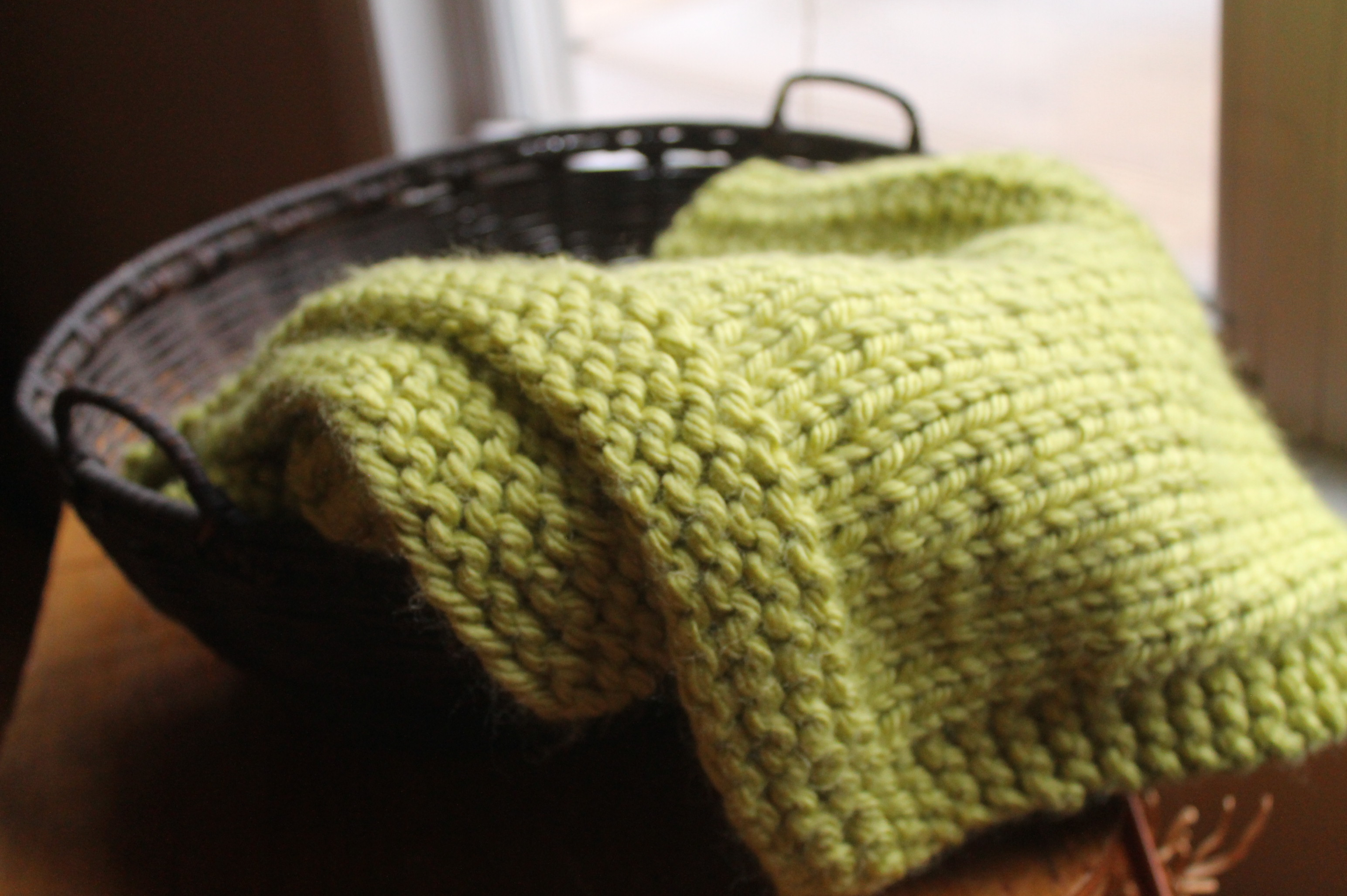 Simple Square Knitted Baby Blanket Pattern – Handmade by Anne Potter