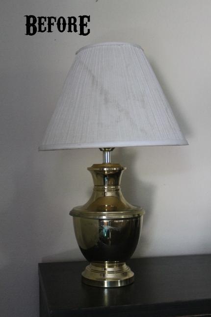 Before- $1 Garage Sale Lamp