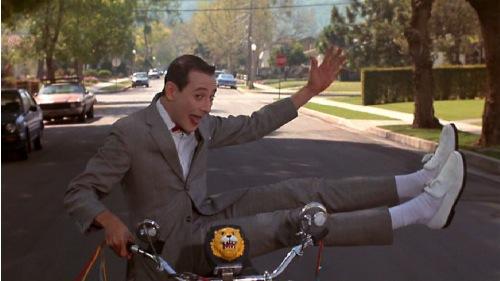 Pee Wee on His Bike