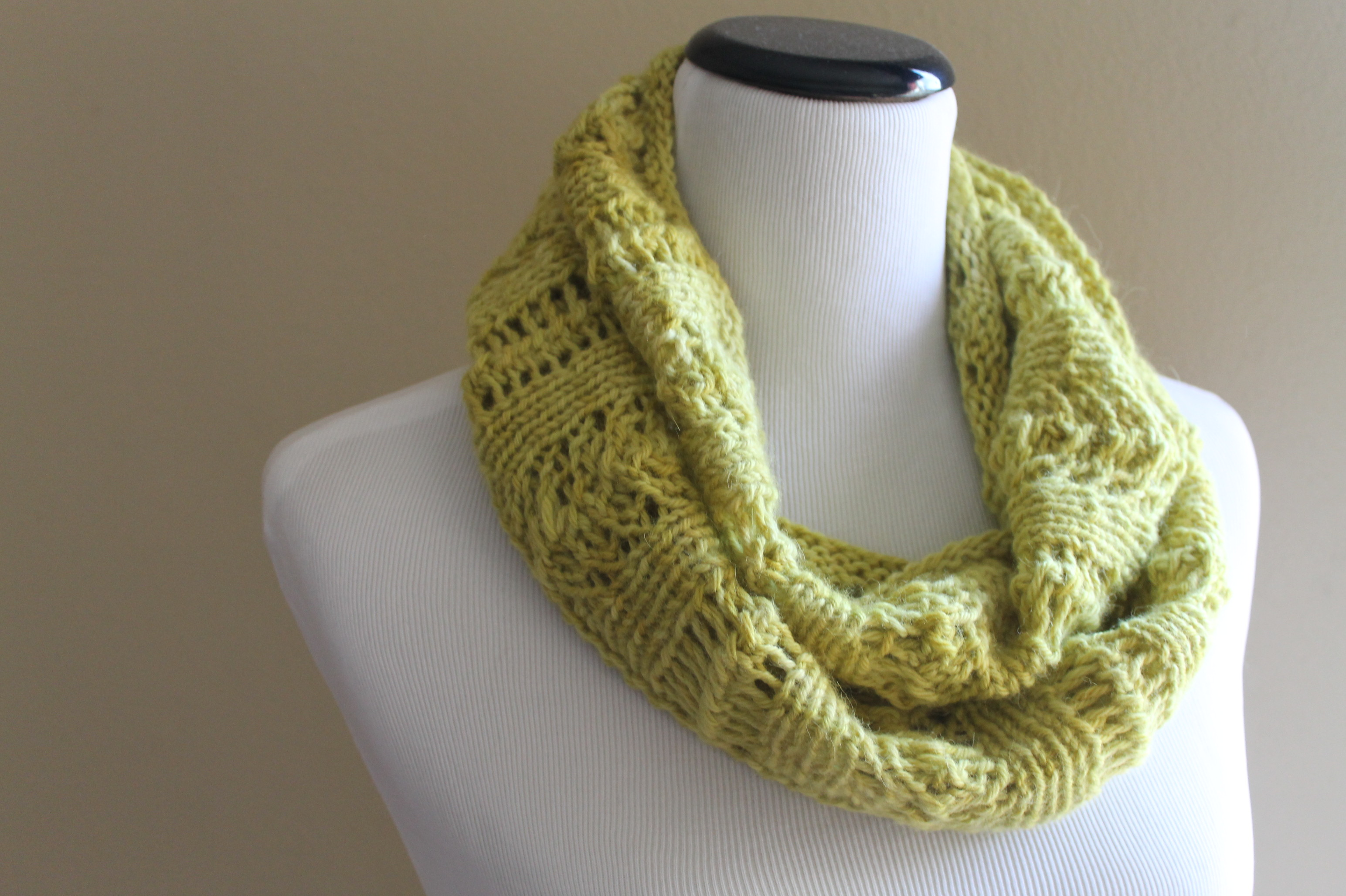 Tuscany Lace Cowl Knitting Pattern – Handmade by Anne Potter