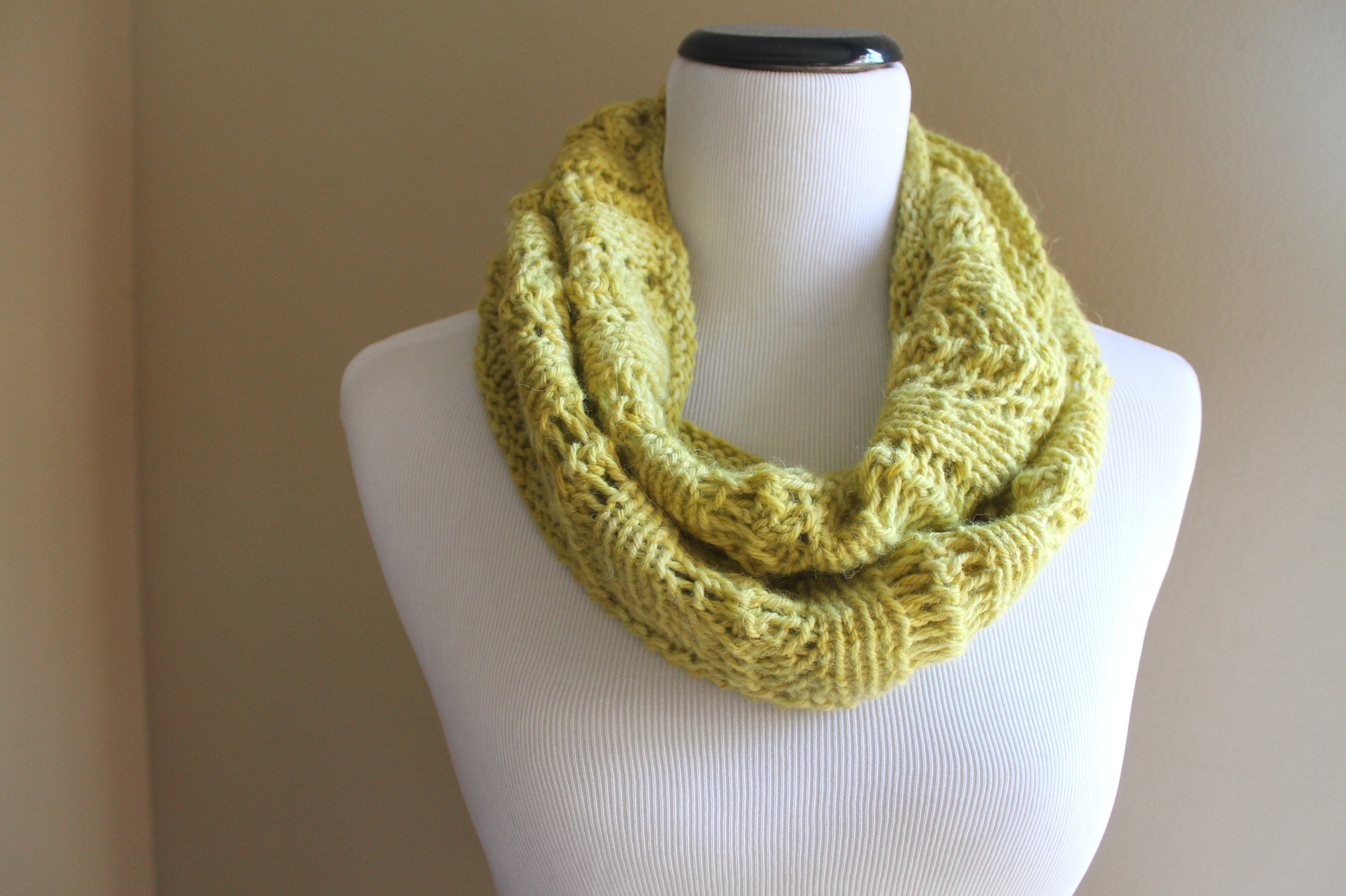 Knit Lace Cowl Pattern : Tuscany Lace Cowl Knitting Pattern   Handmade by Anne Potter