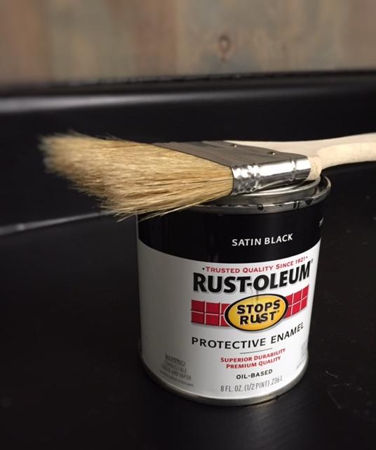Black Paint + Chip Brush
